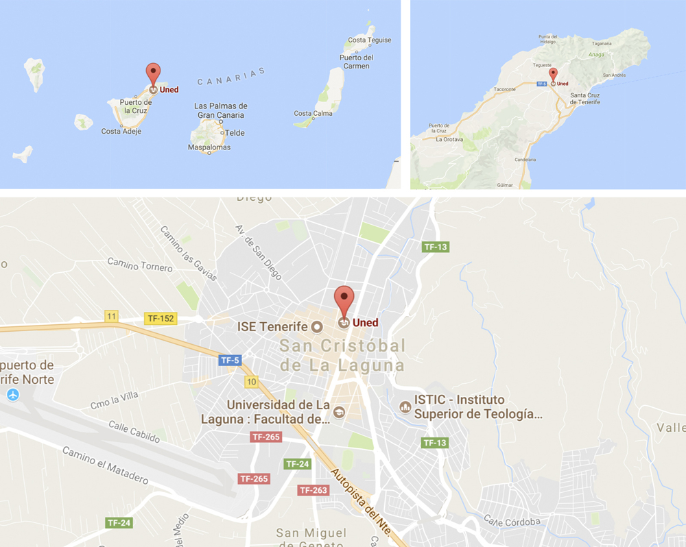 UNED TENERIFE Map